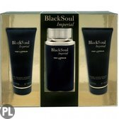 Ted Lapidus Black Soul Imperial EDT 100 ML + 100ML Aftershave Balsem + 100 ML All Over Shampoo